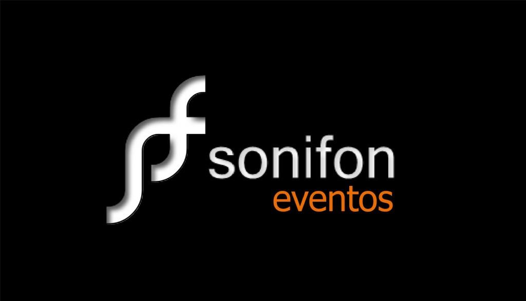 sonifon logo sonifon eventos negro blanco naranja